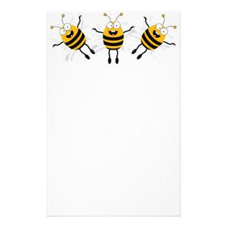 Three Cartoon Bee Stationery