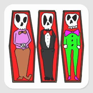 Three Caskets Stickers