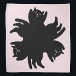 "Three Cat. Chic. Cute. Cool Bandana<br><div class=""desc"">.</div>"