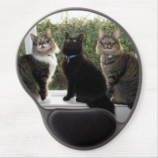 Three Cat Friends Gel Mousepad