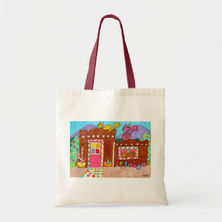 Three Cats at an Adobe Gingerbread House Tote Bag