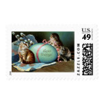 Three Cats & Big Blue Easter Egg Stamps