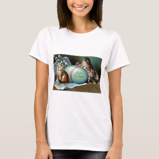 Three Cats & Big Blue Easter Egg T-Shirt