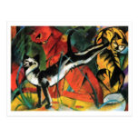 Three Cats by Franz Marc Post Card