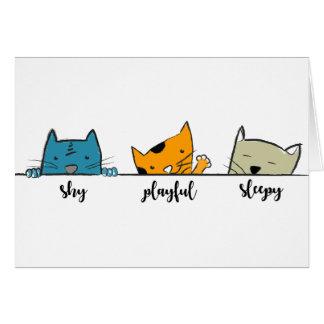 three cats card