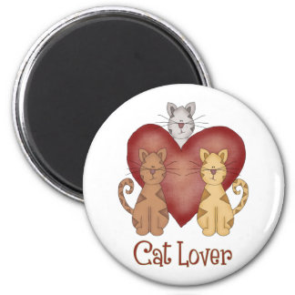 Three Cats Cat Lover Gifts and Tees Magnet