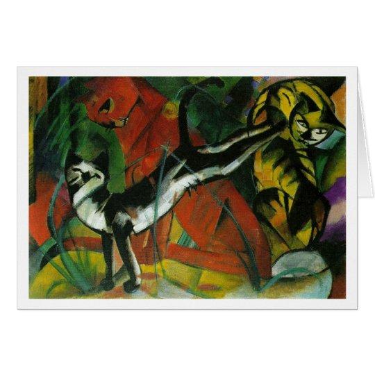 Three Cats - Franz Marc Card