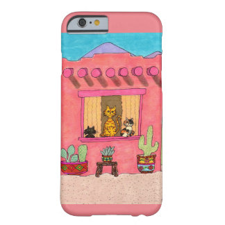 Three Cats in a Pink Adobe House Barely There iPhone 6 Case