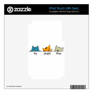 three cats iPod touch 4G decal