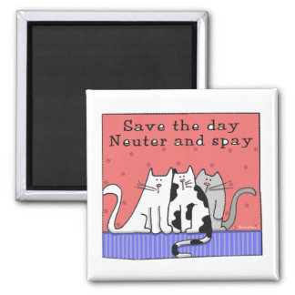 Three Cats Neuter and Spay Magnet