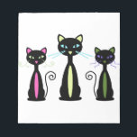 "Three Cats Notepad<br><div class=""desc"">Cat lovers can show their friends how much they mean to each other.</div>"