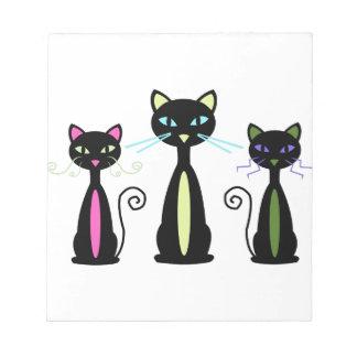 Three Cats Memo Notepads