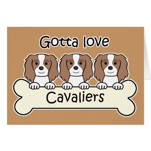 Three Cavalier King Charles Spaniels Cards