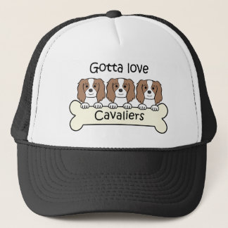 Three Cavalier King Charles Spaniels Trucker Hat