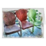 Three Chairs Greeting Card