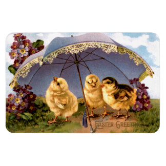Three Charming Easter Chicks Magnet