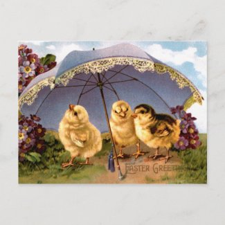 Three Charming Easter Chickens