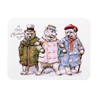 Three Charming Polar Bears Magnet