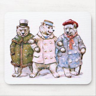 Three Charming Polar Bears