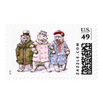 Three Charming Polar Bears Postage