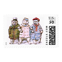Three Charming Polar Bears Postage