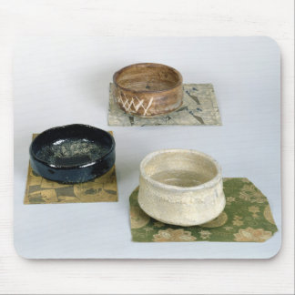Three chawans used for tea ceremonies, c.1800 mouse pad