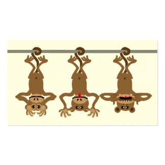 Three cheeky monkeys Double-Sided standard business cards (Pack of 100)