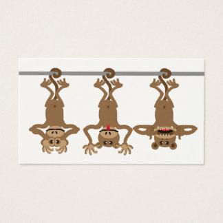 Three cheeky monkeys business card
