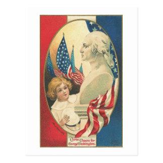 Three Cheers for George Washington Post Card