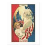 Three Cheers for George Washington Postcard