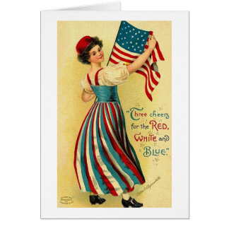 Three Cheers for the Red White and Blue Card