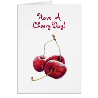 Three Cherries Card