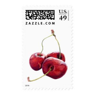 Three Cherries Stamp
