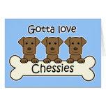 Three Chesapeake Bay Retrievers Card