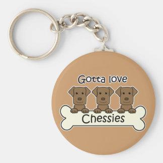 Three Chesapeake Bay Retrievers Keychain