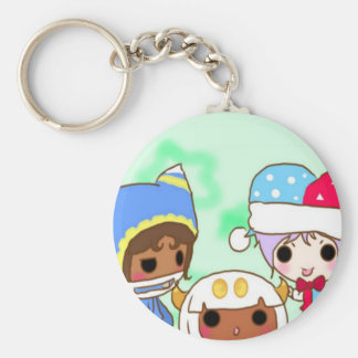 Three chibi troublemakers key chains