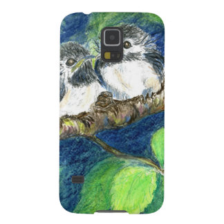 Three Chick-a-Dees - Watercolor Pencil Cases For Galaxy S5