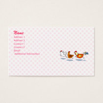 Three Chicks Business Card