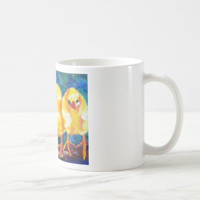 Three Chicks Deep in Conversation Coffee Mug