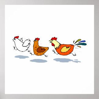 Three Chicks Print