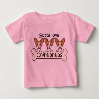 Three Chihuahuas Baby T-Shirt