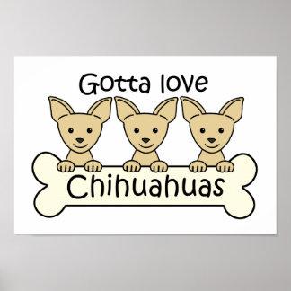 Three Chihuahuas Print