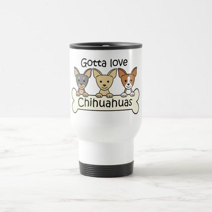 Three Chihuahuas Travel Mug