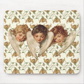 Three Child Angels - Vintage Kitsch Art Mouse Pad