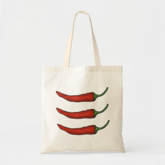 Three Chiles Hot Red Chili Pepper Peppers Tote