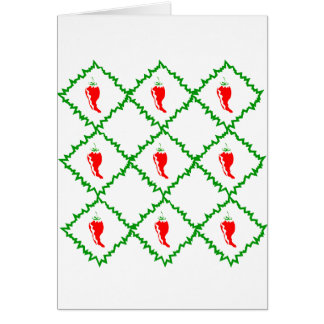 Three chili peppers white diamonds graphic card