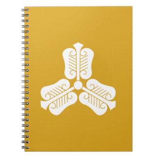 Three China round fan Notebook