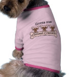 Three Chinese Cresteds Pet Clothes