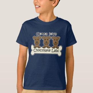 Three Chocolate Labs T-Shirt