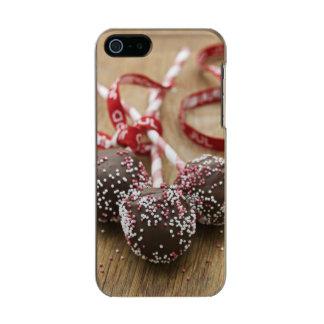 Three chocolate lollipops metallic iPhone SE/5/5s case